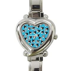 Cat pattern Heart Italian Charm Watch
