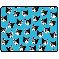 Cat pattern Fleece Blanket (Medium)