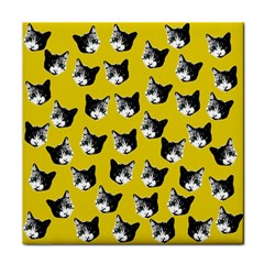 Cat pattern Tile Coasters
