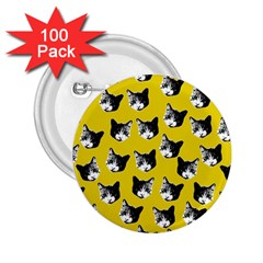 Cat pattern 2.25  Buttons (100 pack)