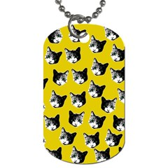 Cat pattern Dog Tag (One Side)