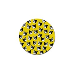 Cat pattern Golf Ball Marker
