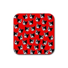 Cat pattern Rubber Square Coaster (4 pack)