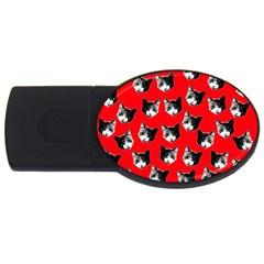 Cat pattern USB Flash Drive Oval (4 GB)