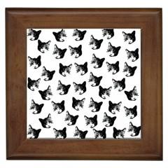 Cat pattern Framed Tiles