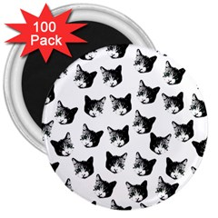 Cat pattern 3  Magnets (100 pack)