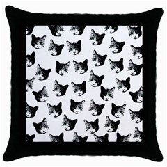 Cat pattern Throw Pillow Case (Black)