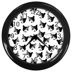 Cat pattern Wall Clocks (Black)