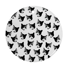 Cat pattern Round Ornament (Two Sides)