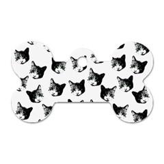 Cat pattern Dog Tag Bone (One Side)
