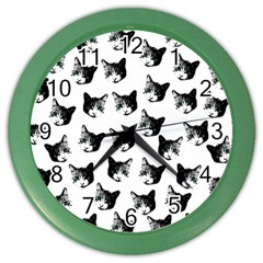 Cat pattern Color Wall Clocks