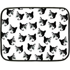 Cat pattern Fleece Blanket (Mini)