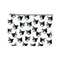 Cat pattern Cosmetic Bag (Large)