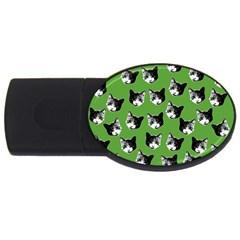 Cat pattern USB Flash Drive Oval (2 GB)