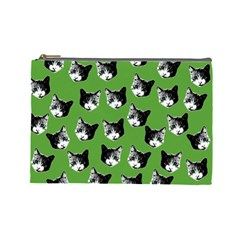 Cat pattern Cosmetic Bag (Large)