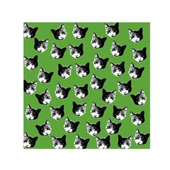 Cat pattern Small Satin Scarf (Square)