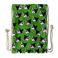 Cat pattern Drawstring Bag (Large)