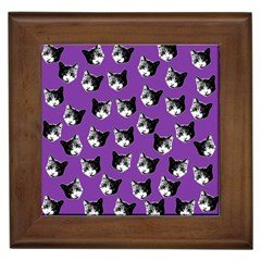 Cat pattern Framed Tiles