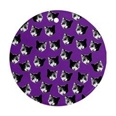 Cat pattern Ornament (Round)