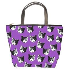 Cat pattern Bucket Bags
