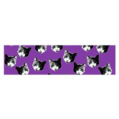 Cat pattern Satin Scarf (Oblong)