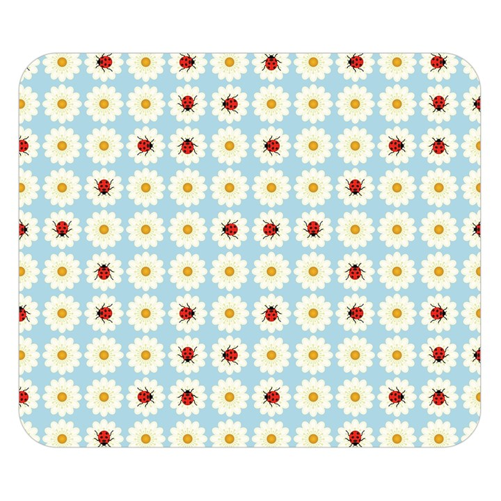 Ladybugs Pattern Double Sided Flano Blanket (Small)