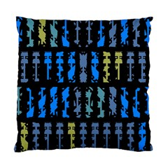 Blue shapes on a black background  Standard Cushion Case (Two Sides)