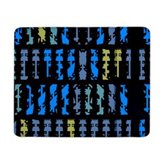 Blue shapes on a black background  Samsung Galaxy Tab Pro 12.2 Hardshell Case