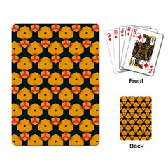 Yellow pink shapes pattern         Playing Cards Single Design