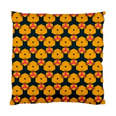 Yellow pink shapes pattern   Standard Cushion Case (Two Sides)