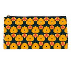 Yellow pink shapes pattern   Pencil Case