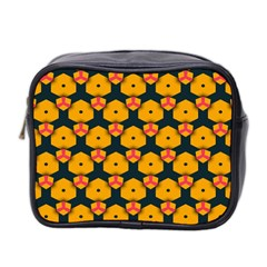 Yellow pink shapes pattern         Mini Toiletries Bag (Two Sides)