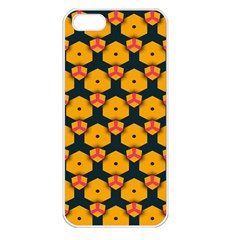 Yellow Pink Shapes Pattern   Apple Iphone 5 Seamless Case (white)