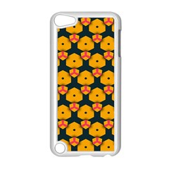 Yellow pink shapes pattern   Apple iPod Touch 5 Case (Black)