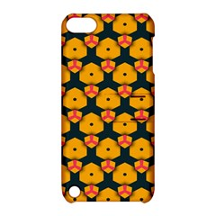 Yellow pink shapes pattern   Apple iPhone 5 Hardshell Case with Stand