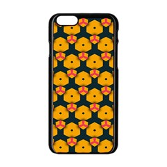 Yellow pink shapes pattern   Apple iPhone 6/6S White Enamel Case
