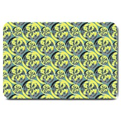 Black And Yellow Pattern Large Doormat