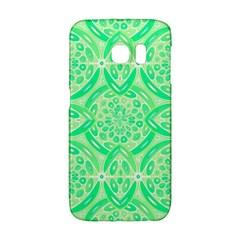 Kiwi Green Geometric Galaxy S6 Edge