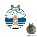 Seal of Indian Sate of Himachal Pradesh Hat Clips with Golf Markers Front