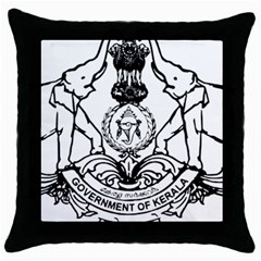 Seal Of Indian State Of Kerala  Throw Pillow Case (black)