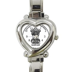 Seal Of Indian State Of Meghalaya Heart Italian Charm Watch