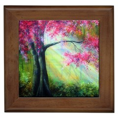 Forests Stunning Glimmer Paintings Sunlight Blooms Plants Love Seasons Traditional Art Flowers Framed Tiles