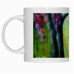 Forests Stunning Glimmer Paintings Sunlight Blooms Plants Love Seasons Traditional Art Flowers White Mugs