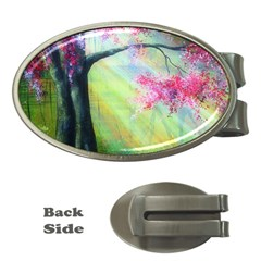 Forests Stunning Glimmer Paintings Sunlight Blooms Plants Love Seasons Traditional Art Flowers Money Clips (Oval)