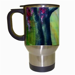 Forests Stunning Glimmer Paintings Sunlight Blooms Plants Love Seasons Traditional Art Flowers Travel Mugs (White)