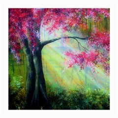Forests Stunning Glimmer Paintings Sunlight Blooms Plants Love Seasons Traditional Art Flowers Medium Glasses Cloth (2-Side)