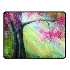 Forests Stunning Glimmer Paintings Sunlight Blooms Plants Love Seasons Traditional Art Flowers Fleece Blanket (Small)