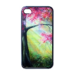 Forests Stunning Glimmer Paintings Sunlight Blooms Plants Love Seasons Traditional Art Flowers Apple iPhone 4 Case (Black)
