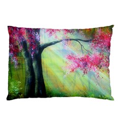 Forests Stunning Glimmer Paintings Sunlight Blooms Plants Love Seasons Traditional Art Flowers Pillow Case (Two Sides)