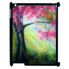 Forests Stunning Glimmer Paintings Sunlight Blooms Plants Love Seasons Traditional Art Flowers Apple iPad 2 Case (Black)
